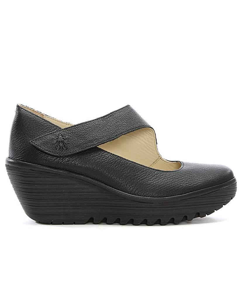 Fly London Yasi Mary Jane Wedge Shoes