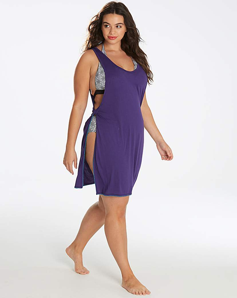 Simply Be Simply Yours Purple Tie Side Beach Dress