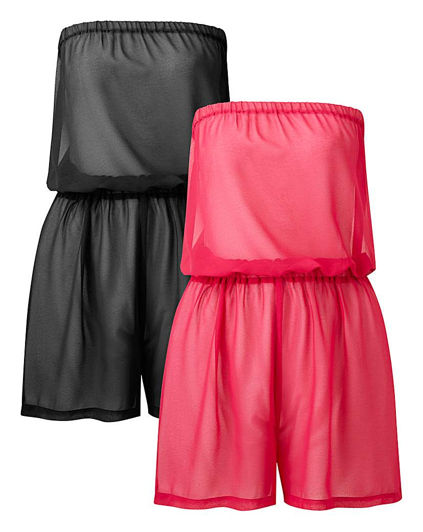 Simply Be Basic 2 Pack Playsuits
