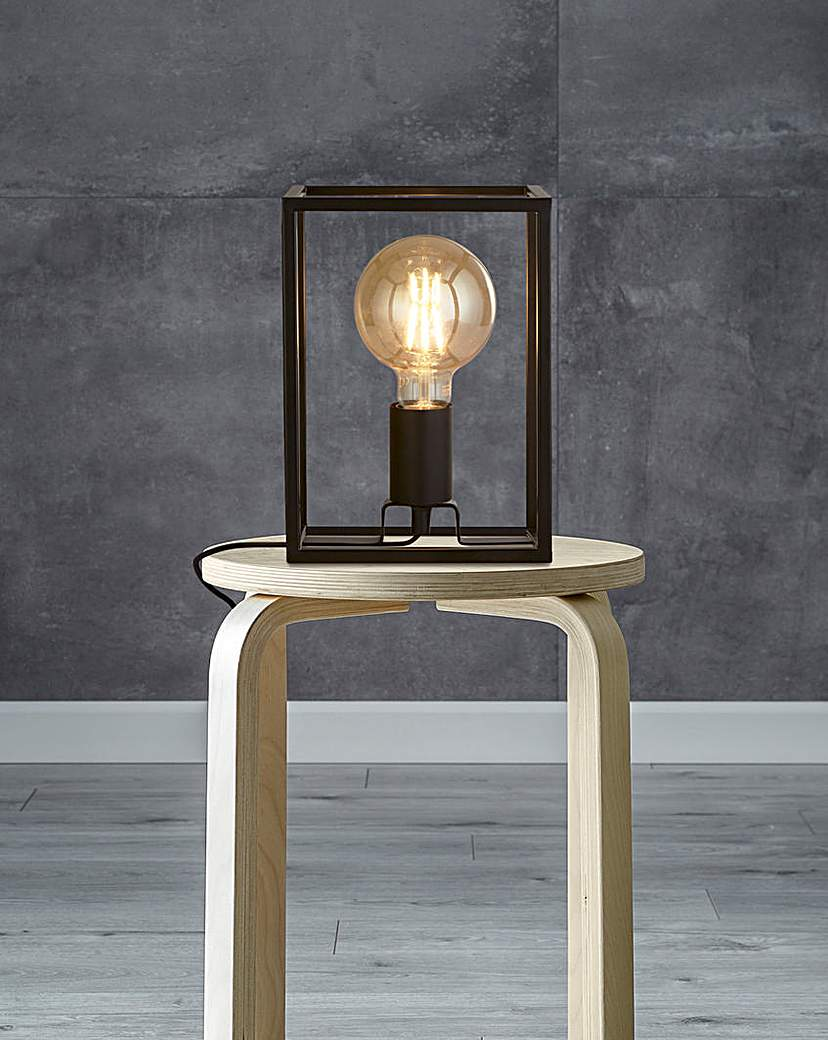 Black Cage Table Lamp