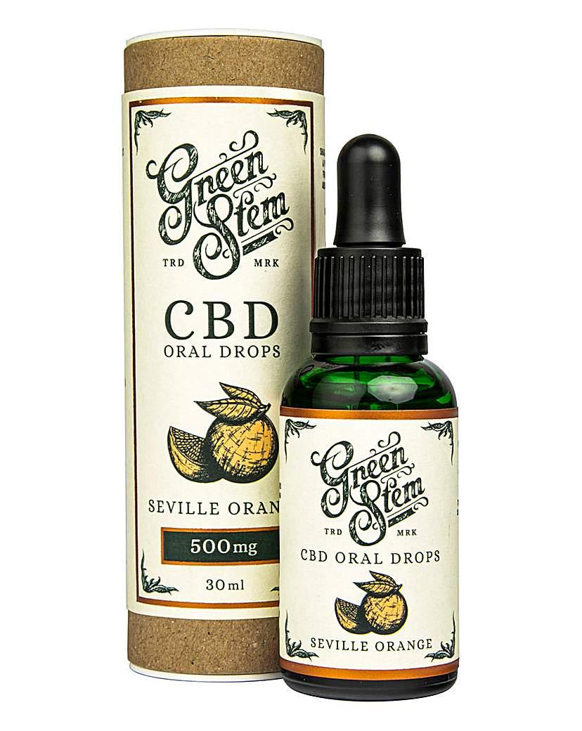 Green Stem Green Stem 500mg CBD Oil Drops - Orange