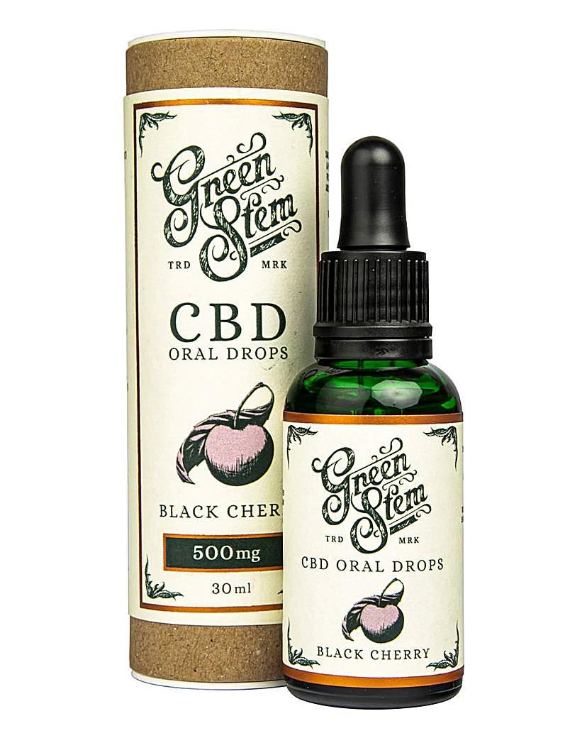 Green Stem Green Stem 500mg CBD Oil Drops - Cherry