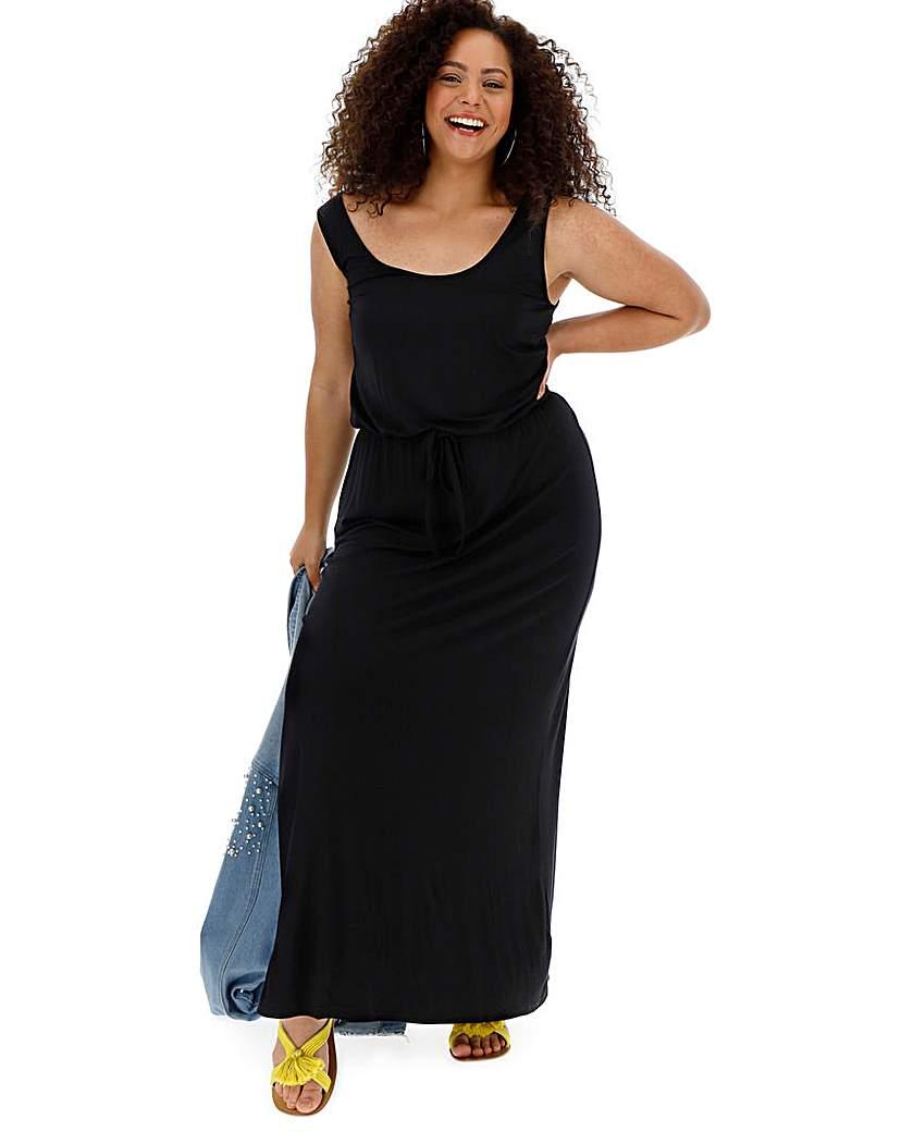 Capsule Black Vest Maxi Dress
