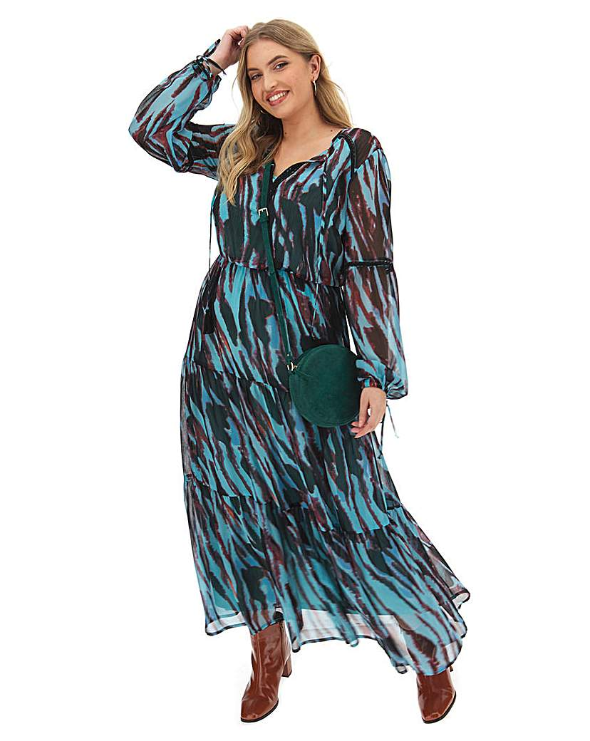 Simply Be Boho Maxi With Ladder Trim