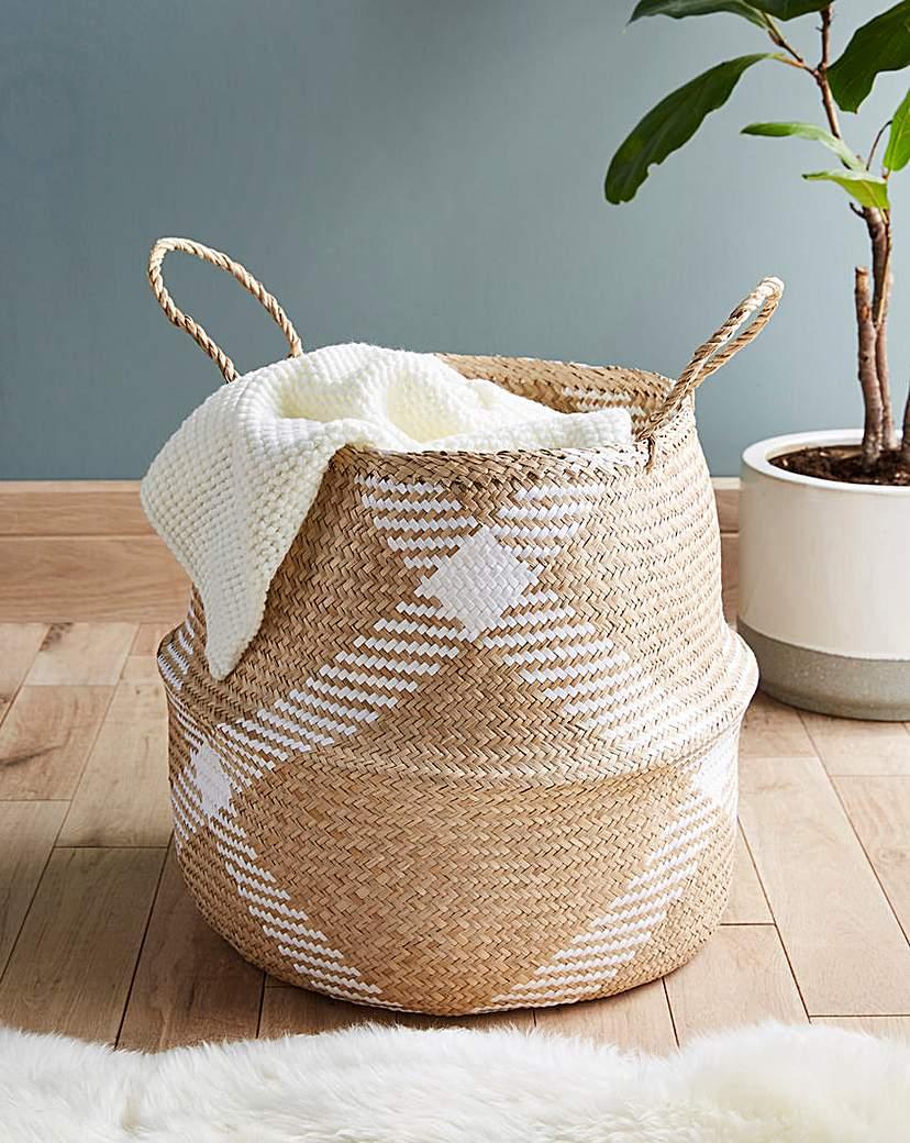 Seagrass Check Storage Basket