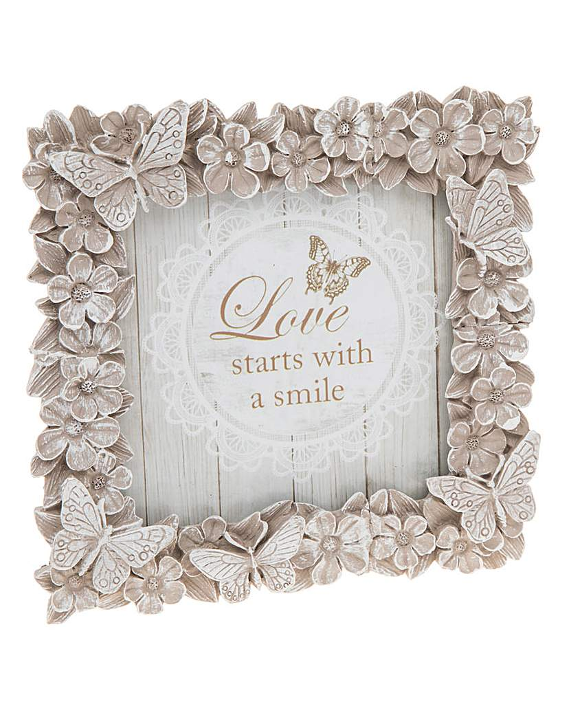 Image of Floral Butterfly Photo Frame 4x4
