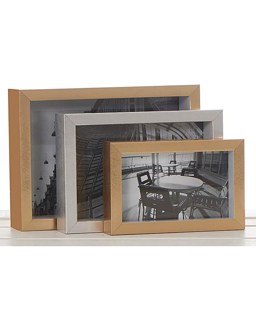 Image of 3 Nesting Rectangle Frames- Gold