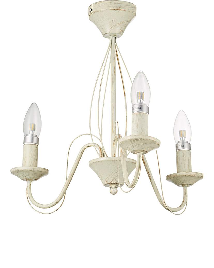 Image of 3 Light Cream Ceiling Light