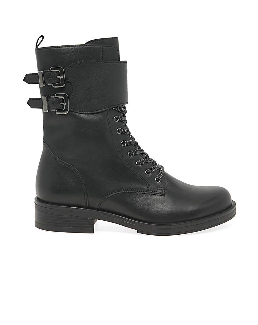 1940s Style Shoes, 40s Shoes, Heels, Boots Gabor Hind Womens Standard Biker Boots £135.00 AT vintagedancer.com