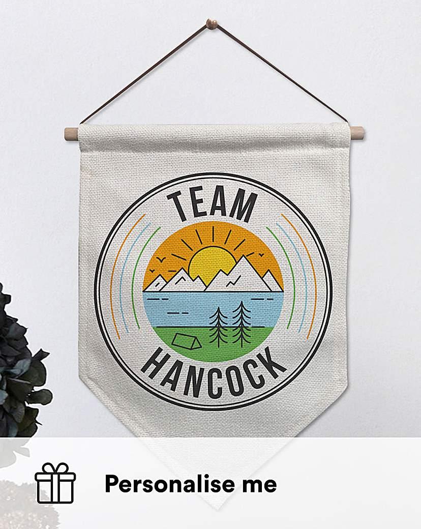 Personalised Team Banner