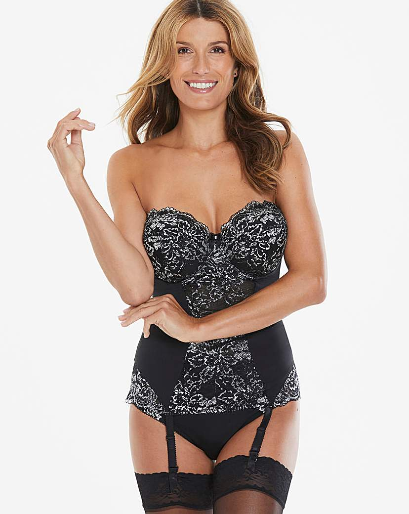 Ella Black Sparkle Multiway Basque