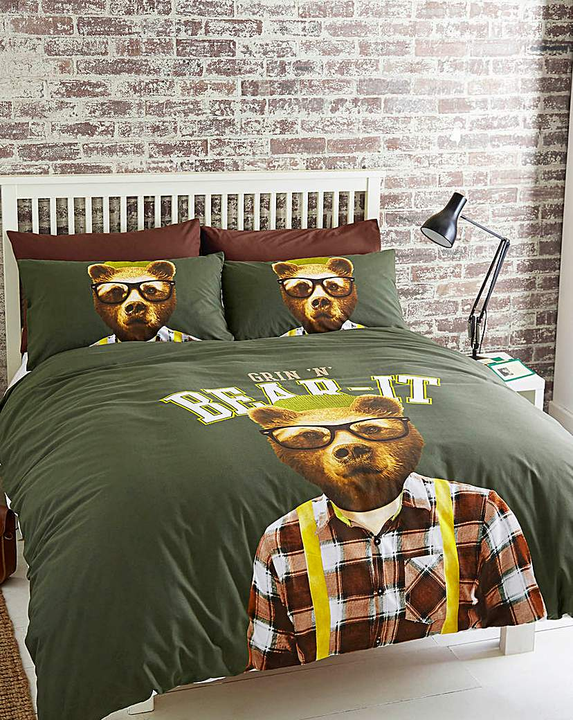 Compare retail prices of #Grin N Bear It Duvet Cover Set to get the best deal online
