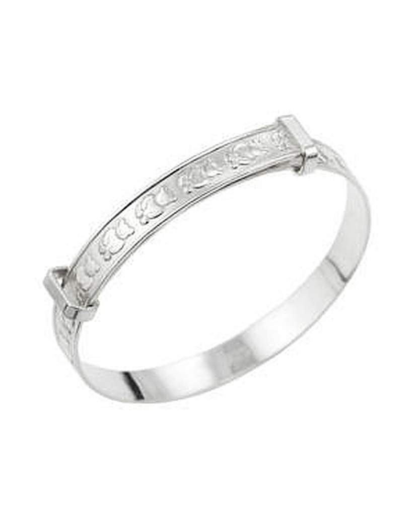 Simply Be Silver Teddy Design Expander Bangle