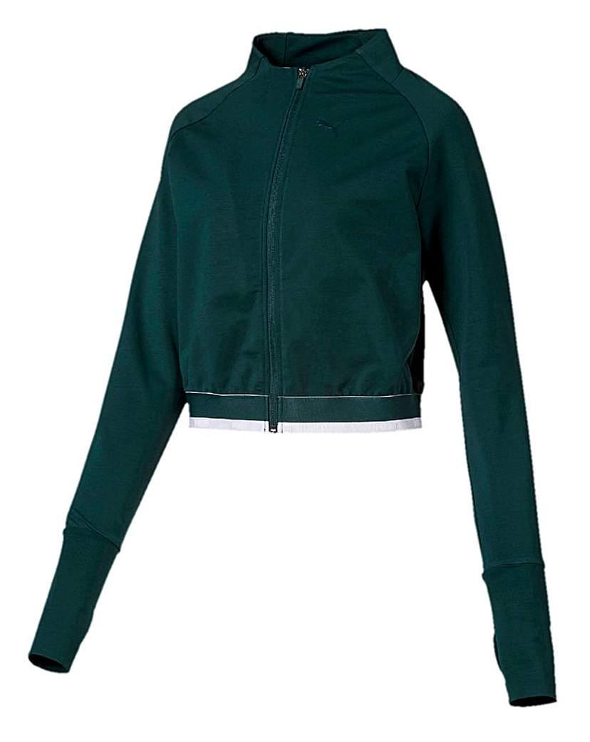 Puma Ladies Green Soft Sports Jacket