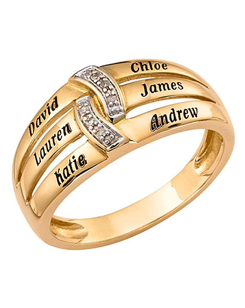 Precious Sentiments Gold Ladies Ring