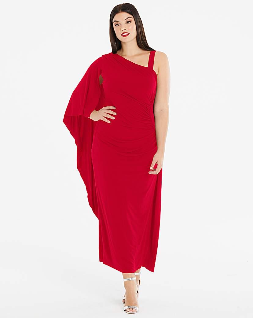 Joanna Hope Joanna Hope Red Drape Maxi Dress