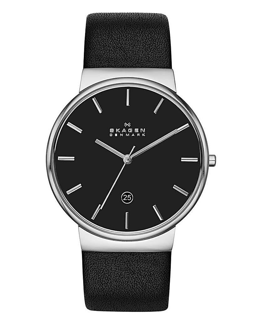Skagen Ancher Black Strap Watch