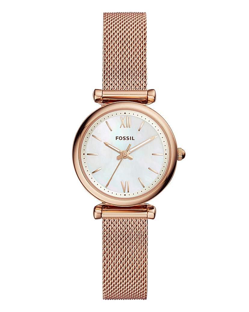 Fossil Carlie Mesh Bracelet Watch