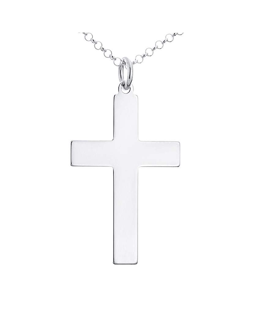 Sterling Silver Cross Pendant With Chain