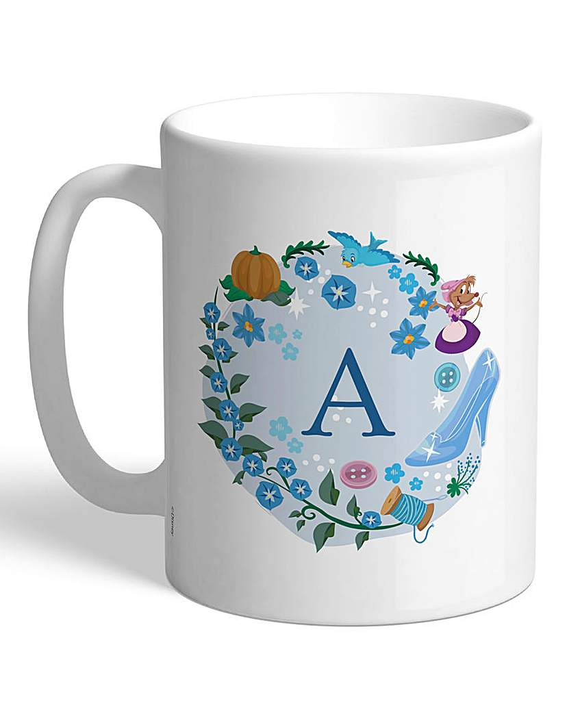 Image of Personalised Disney Princess Initial Mug