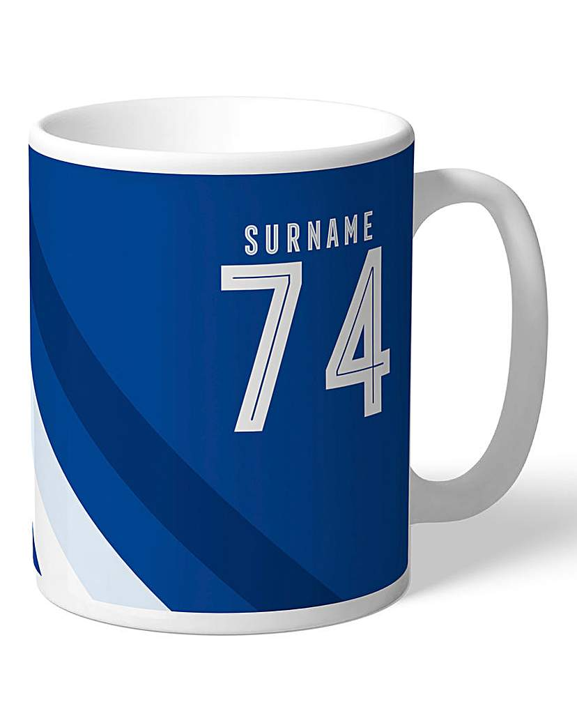 Image of Personalised Chelsea Stripe Mug