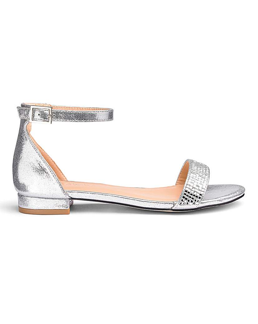 Simply Be Ruby Low Heel Ankle Strap Extra Wide Fit