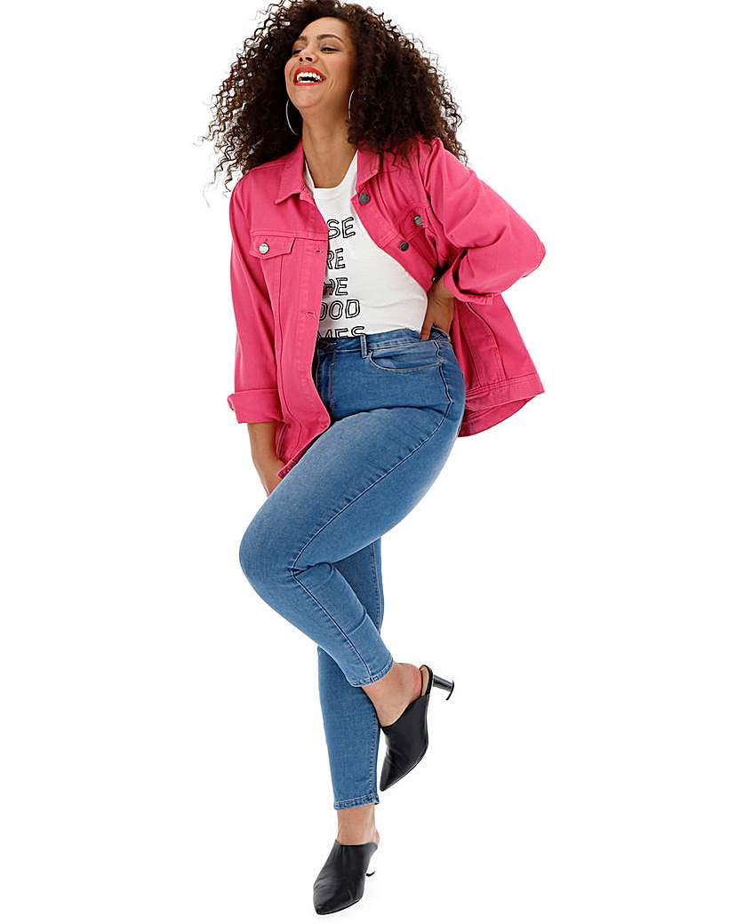 Simply Be Stonewash Chloe High Waist Skinny Jeans