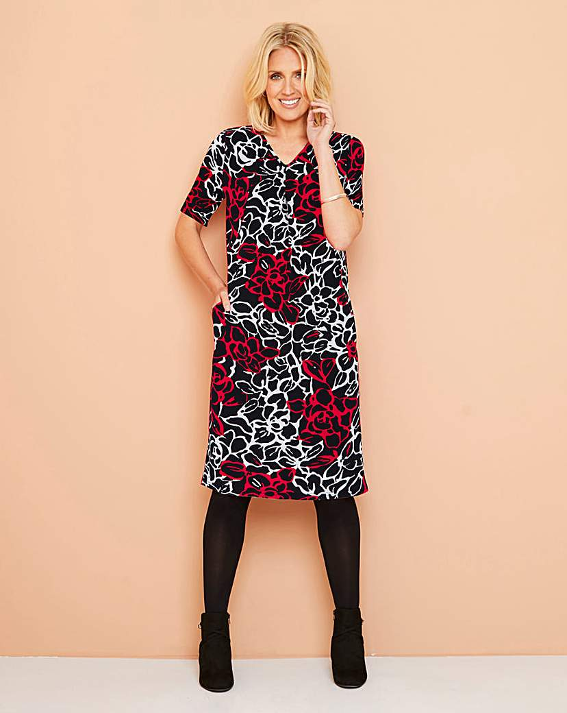 Julipa Black/Red Jersey Pocket Dress
