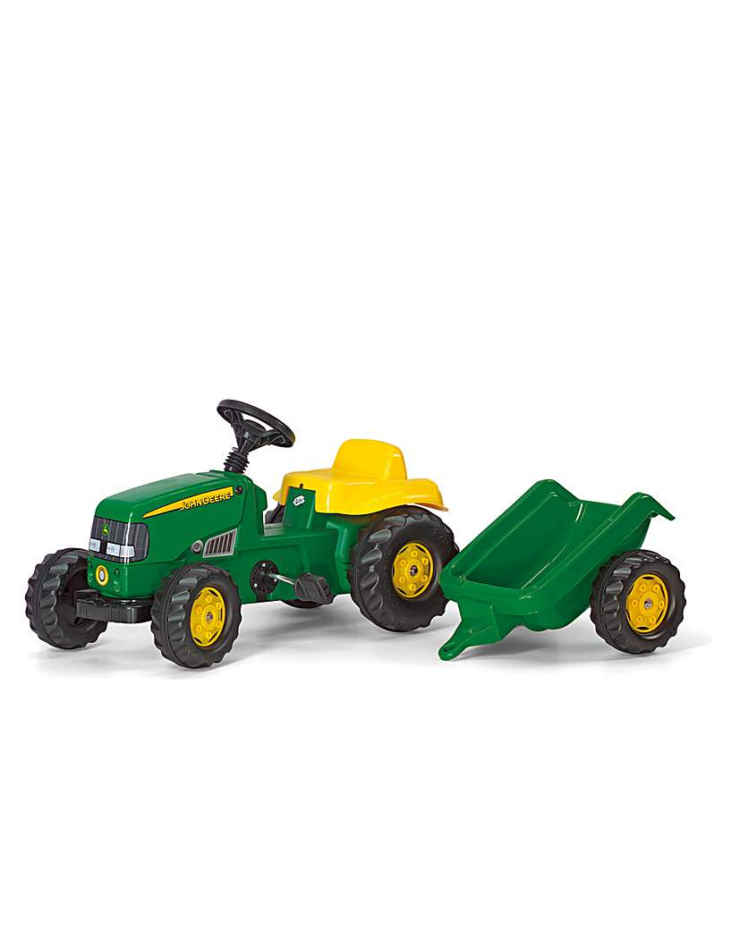 Image of Rolly Kid John Deere Tractor & Trailer