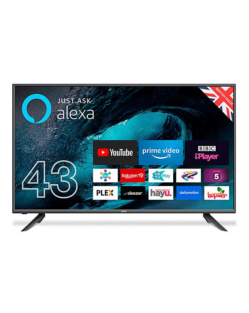 Cello 43in Smart TV & Voice Activation