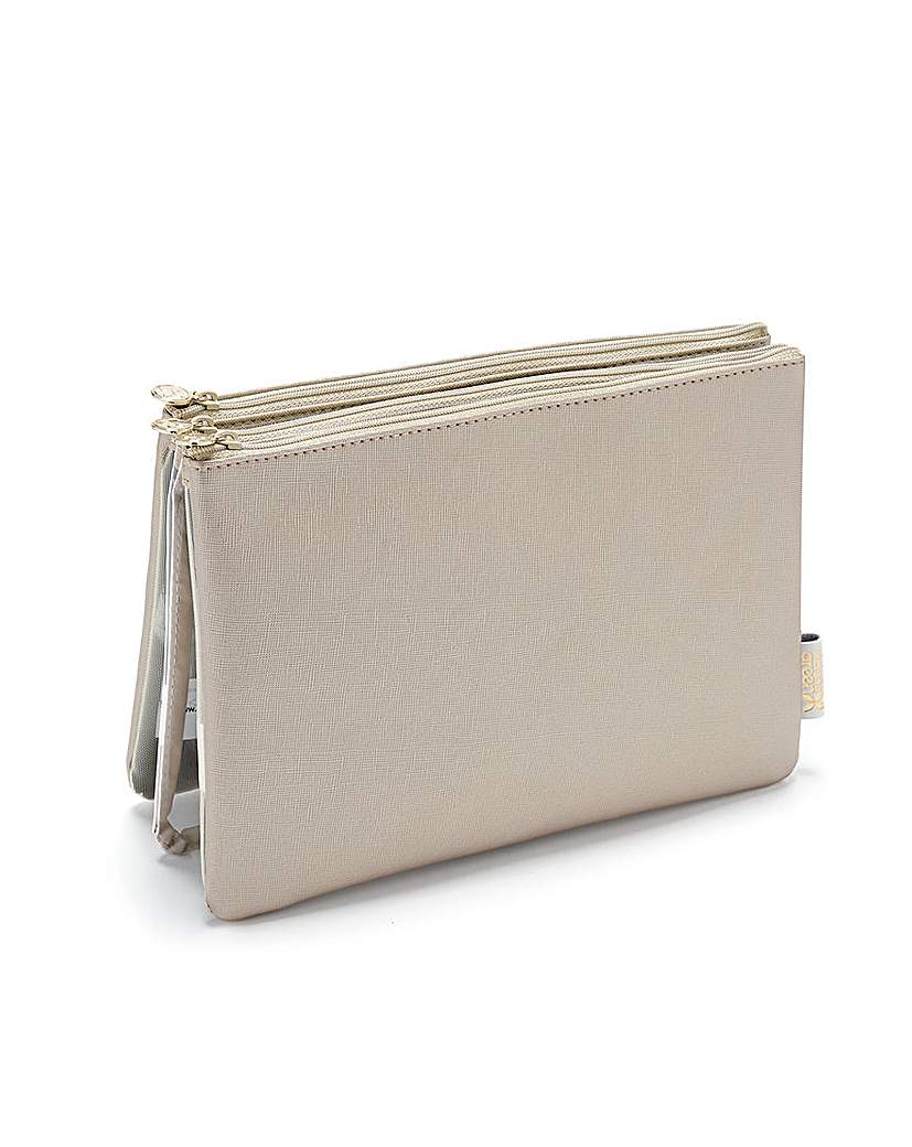 AMY 3-IN-1 MAKEUP WALLET GOLD
