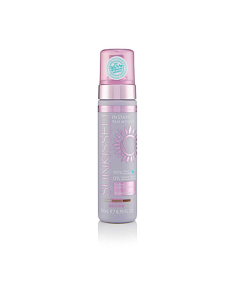 Sunkissed Prof Tan Mousse Med 200ml 95% Natural