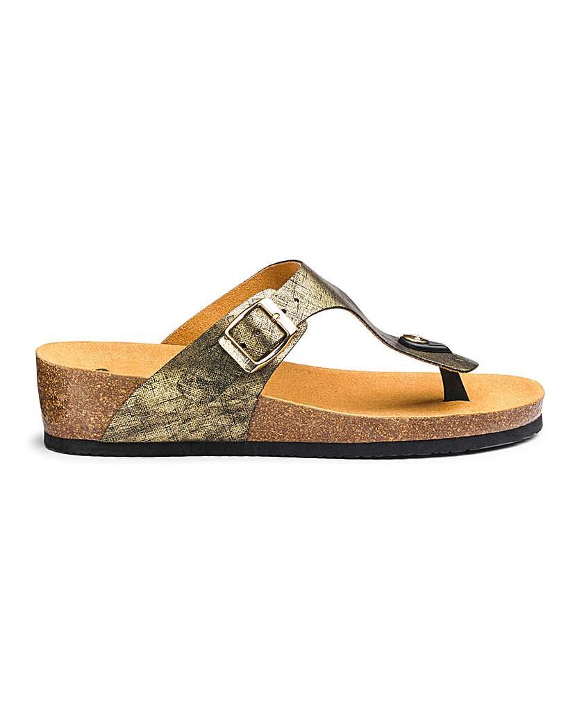 Scholl Scholl Gandia Toe Post Sandals E Fit