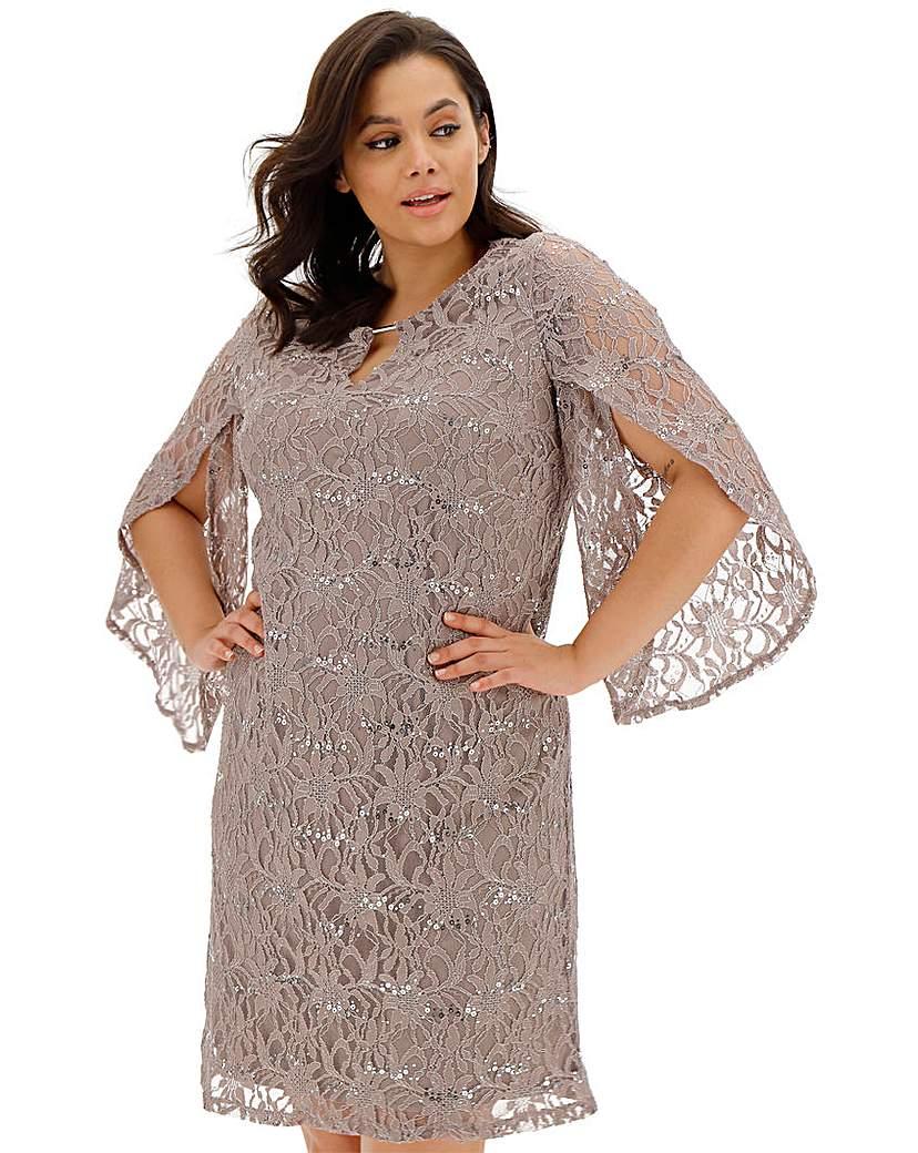 Joanna Hope Joanna Hope Sequin Stretch Lace Dress