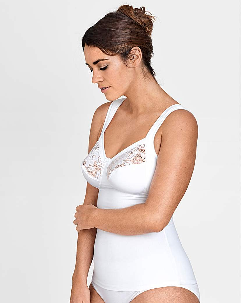 Miss Mary White Shaping Camisole