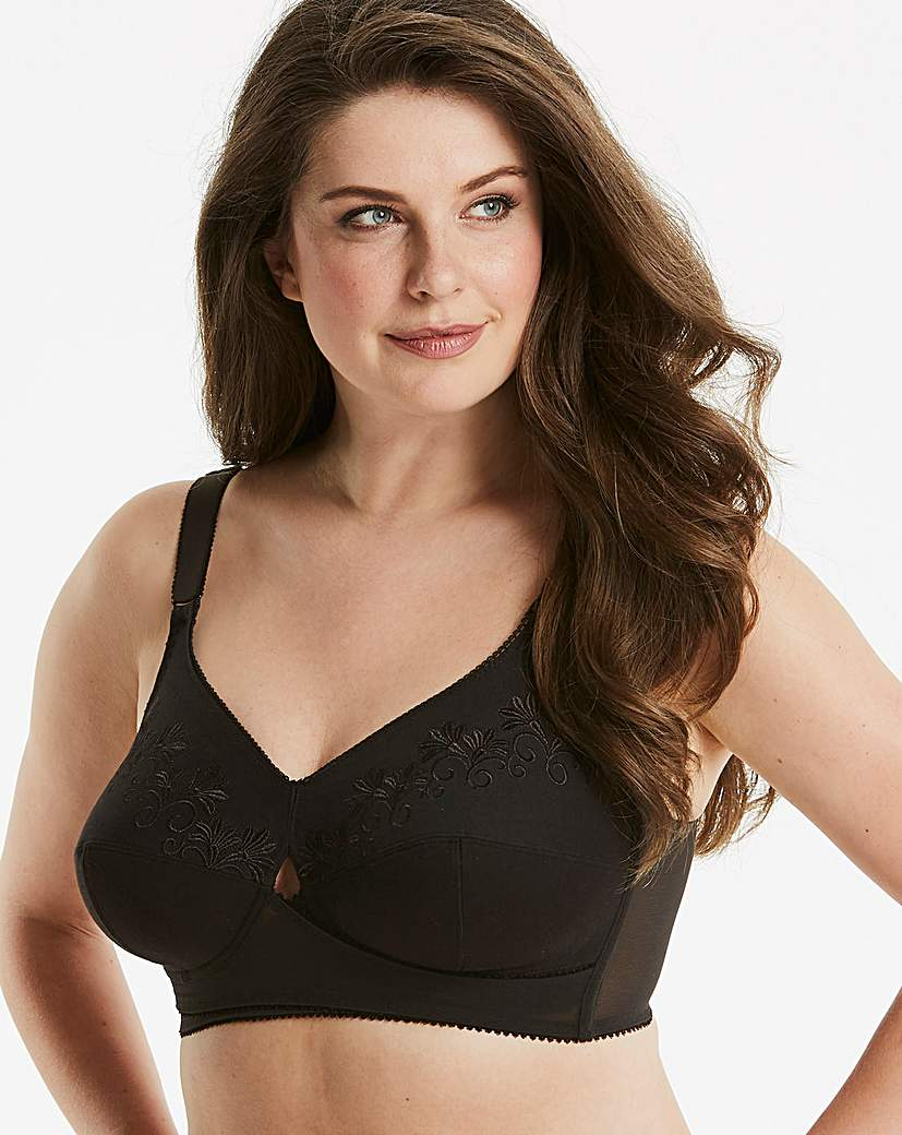 Image of Berlei Total Support Black Cotton Bra