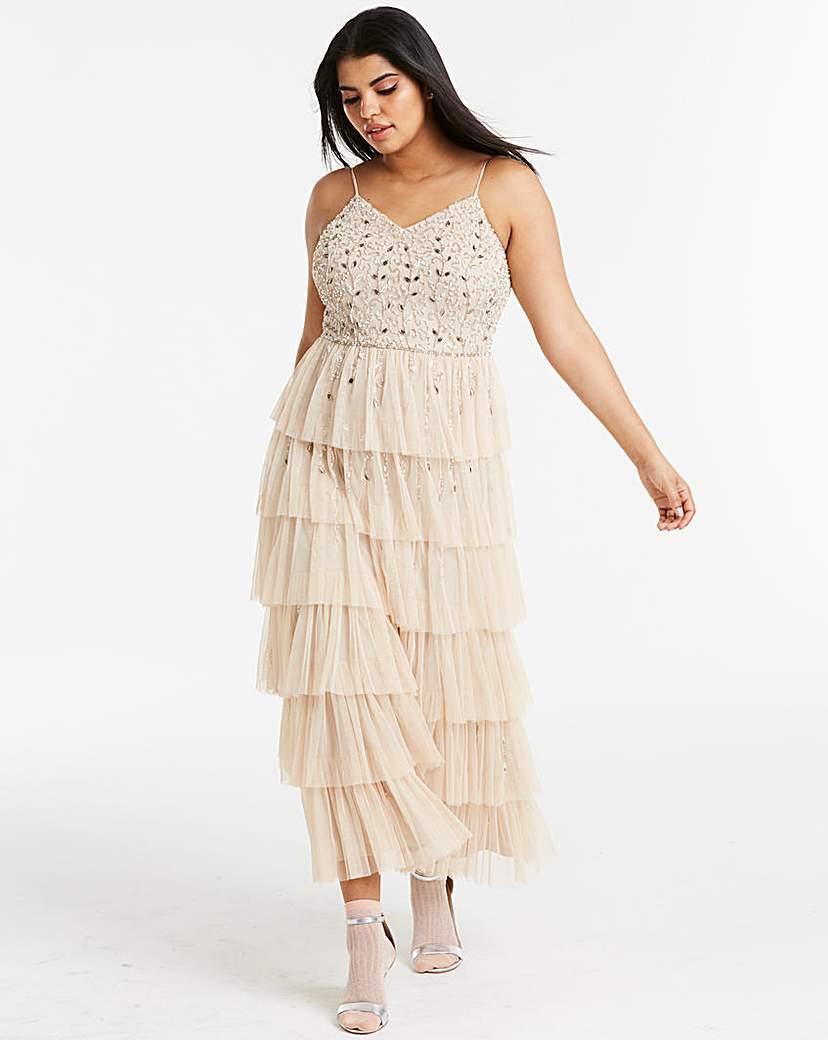 Joanna Hope Beaded Tierd Boho Dress