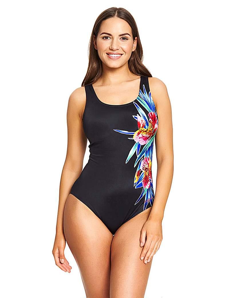 Zoggs Zoggs Hybrid Tummy Control Swimsuit