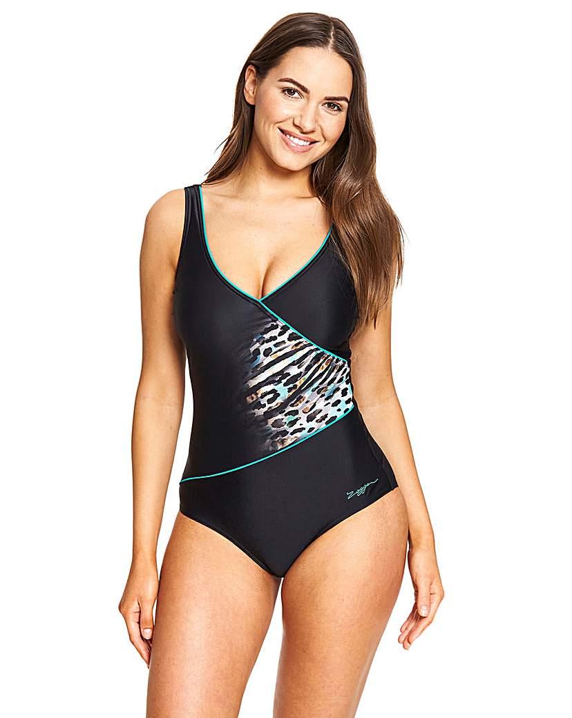 Zoggs Zoggs Wrap Tummy Control Swimsuit