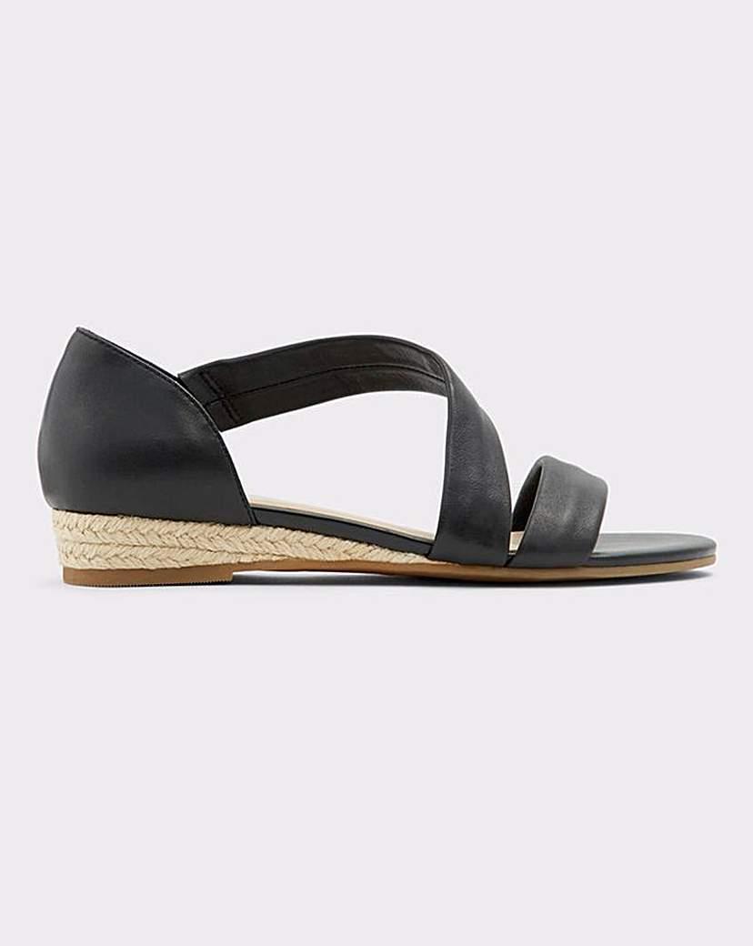 ALDO Aldo Moewen Leather Wedge Sandal S Fit
