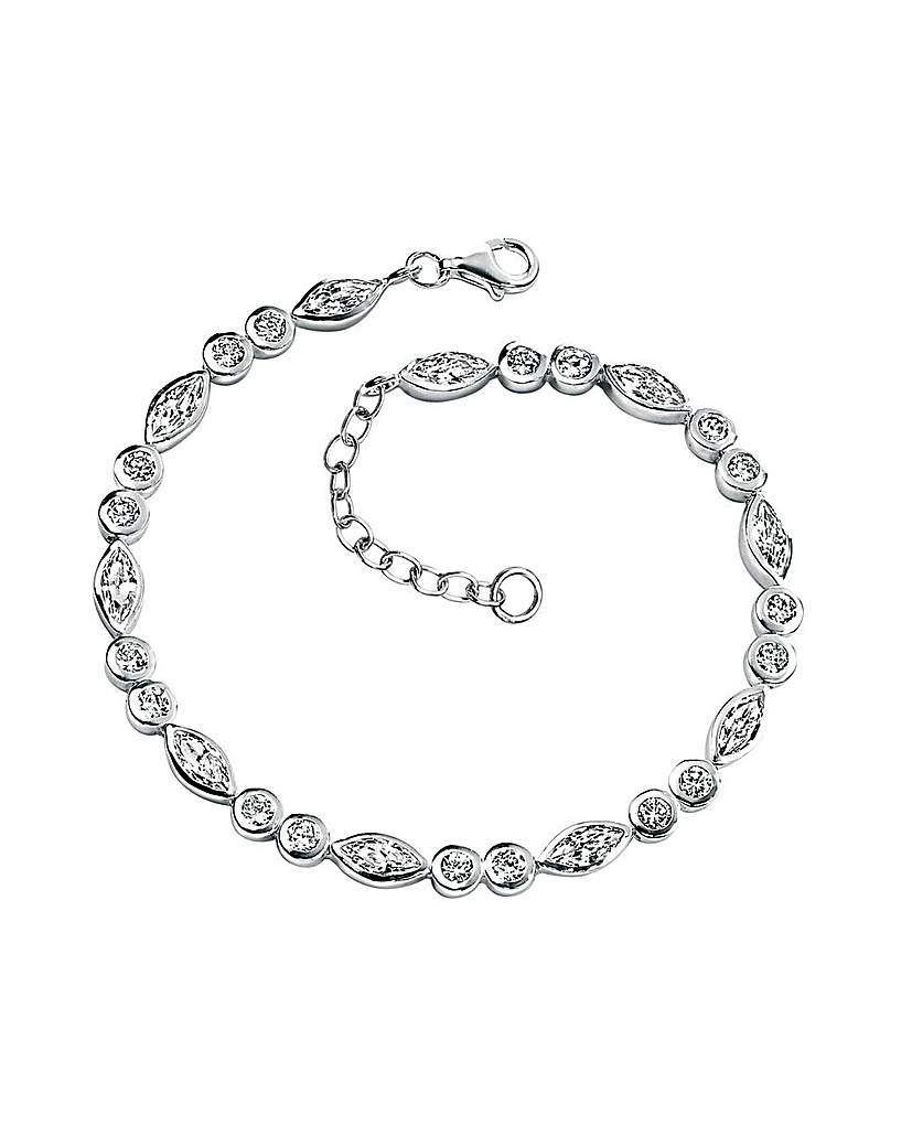 Simply Be Sterling Silver Marquise Bracelet