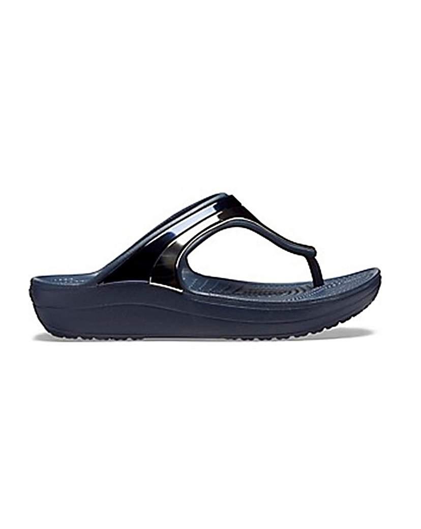 Crocs Crocs Sloane Metal Detail Flip Flops