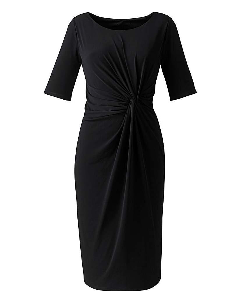 Plain Black Twist Knot Dress