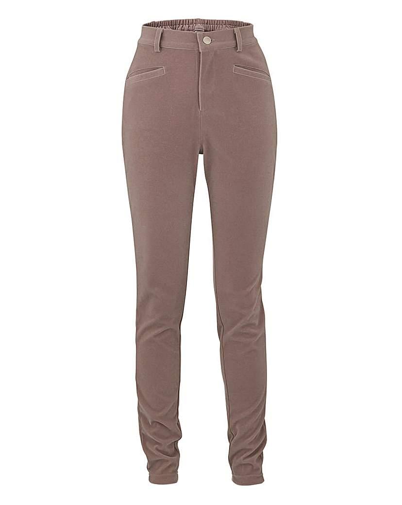 Simply Be Velvet Slim Leg Jean 25in