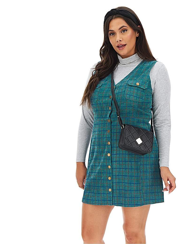 Glamorous Cord Button Up Dress