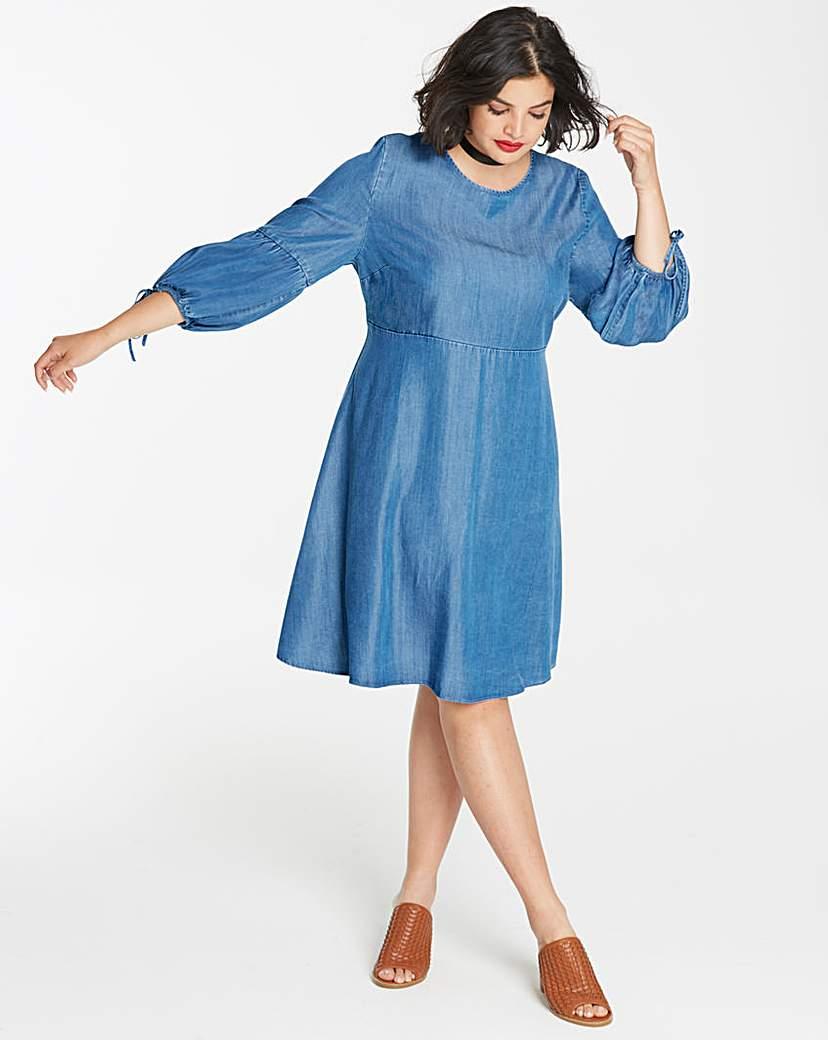 Simply Be Soft Lyocell Denim Smock Dress