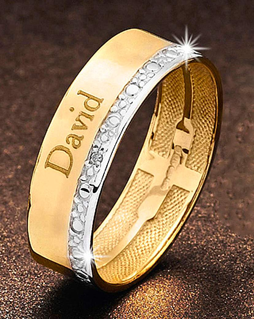 Precious Sentiments Gold Gents Band Ring