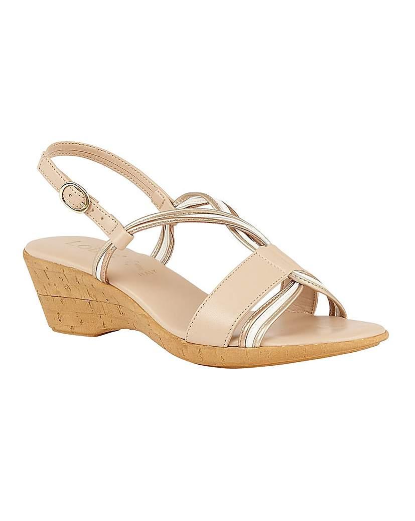Lotus Carrara Sling-Back Wedge Sandals