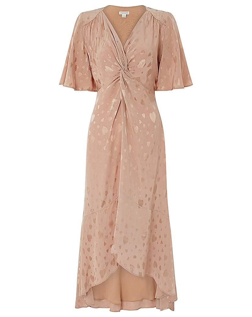 Monsoon Jacquette Satin Jacquard Dress