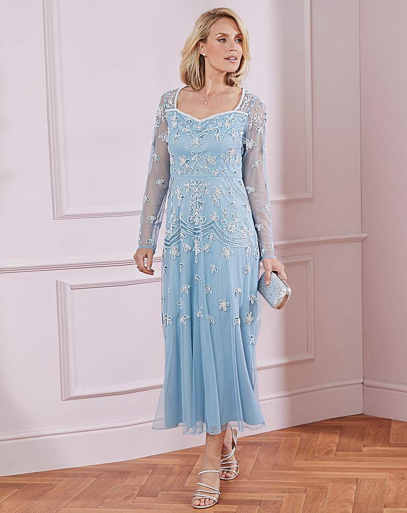 Vintage Inspired Dresses & Clothing UK Nightingales Beaded Dress £105.00 AT vintagedancer.com